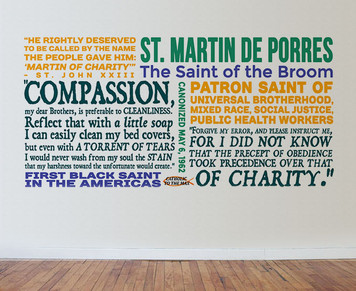 Saint Martin de Porres Quote Wall Decal