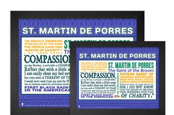 Saint Martin de Porres Quote Poster