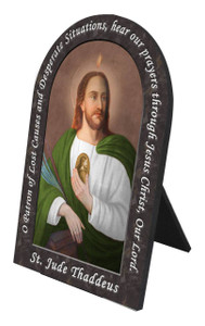 Saint Jude with Prayer Arched Desk Plaque
