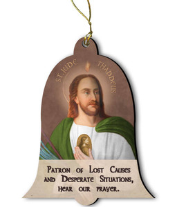 Saint Jude Wood Ornament