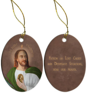 Saint Jude Porcelain Ornament
