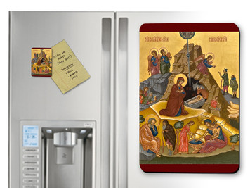 Nativity of Jesus Christ Icon Magnet