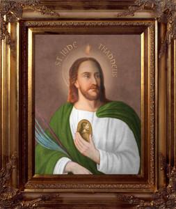 Saint Jude Thaddeus Canvas - Gold Museum Frame