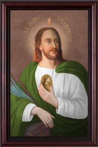 Saint Jude Thaddeus - Cherry Framed Art
