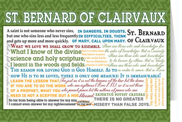 Saint Bernard of Clairvaux Quote Card - Bundle of 6