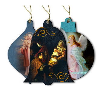 Assorted Pack of Wood Ornaments