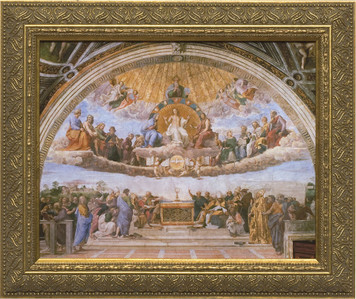 Church-Sized Disputation of the Holy Eucharist Framed Canvas