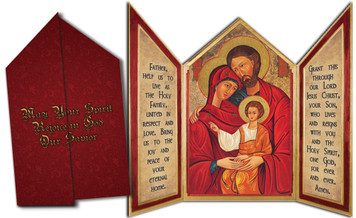 Holy Family Icon Tri-fold Triptych Cards