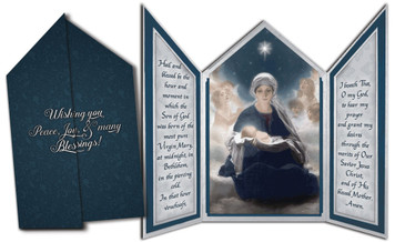 Star of Bethlehem Tri-fold Triptych Christmas Cards