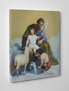 St. Joseph Guardian of Sons Gallery Wrapped Canvas