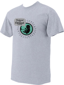 Glorious Purpose Sports Gray Pro-Life T-Shirt