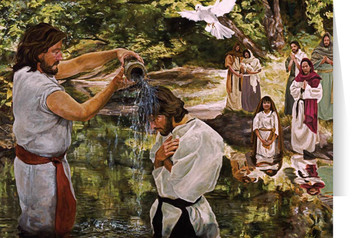Baptism of Jesus (Jenicke) Greeting Card