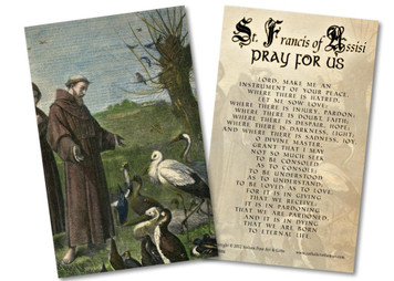 St. Francis Sermon to the Birds Holy Card