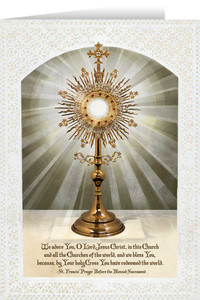 Monstrance Greeting Card