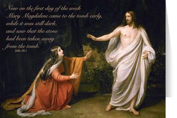 Mary Magdalene Encounters Jesus Easter Season Greeting Card