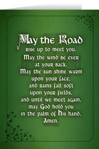 Irish Blessing Greeting Card