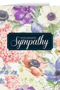 With Deepest Sympathy (Flowers) Greeting Card