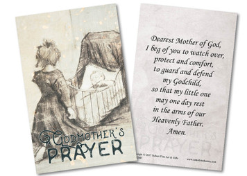 A Godmother's Prayer Holy Card