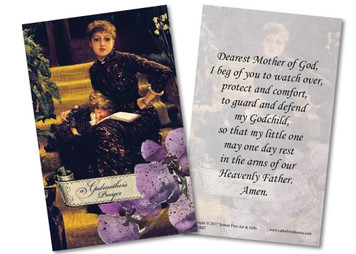Violets Godmother Holy Card