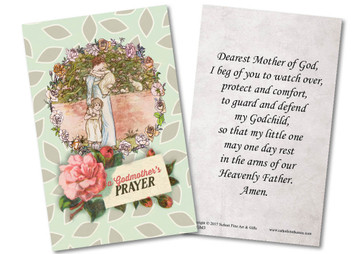 Springtime Godmother Holy Card