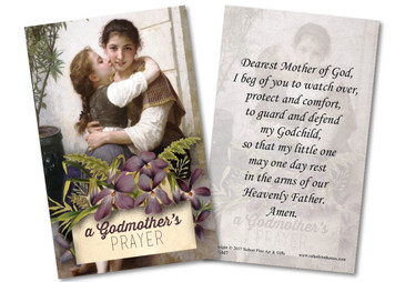 Loving Embrace Godmother Holy Card
