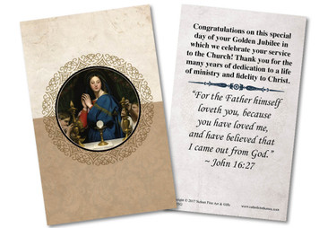 Madonna of the Host Golden Jubilee Holy Card