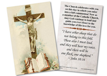 Crucifix RCIA Holy Card