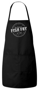 Fish Fry Apron (Black) Personalized
