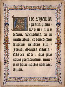 Latin Hail Mary Poster