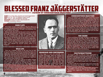 Blessed Franz Jäggerstätter Explained Poster