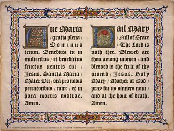 Latin-English Hail Mary Poster