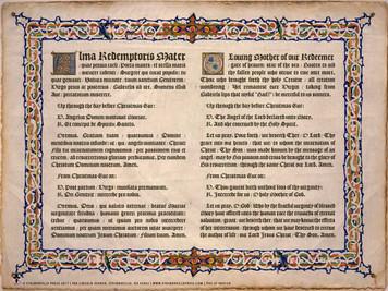 Latin-English Alma Redemptoris Mater Poster