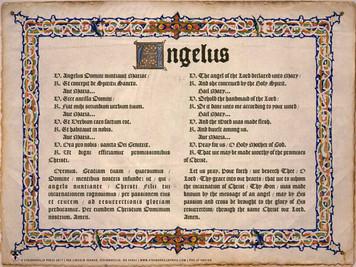 Latin-English Angelus Poster