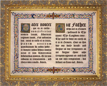 Latin-English Our Father Gold Framed Art