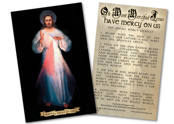 How to Pray the Divine Mercy Chaplet Holy Card