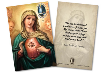 Immaculate Heart of Mary Fatima Anniversary Holy Card