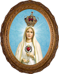 Fatima 100 Year Anniversary - Oval Framed Art