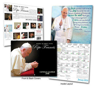2018 Pope Francis Calendar: Words of Mercy