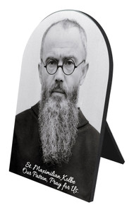 St. Maximilian Kolbe Portrait Desk Plaque