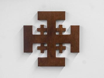 Jerusalem Wood Cross - Cherry