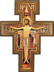 Church-Sized San Damiano Framed Canvas Cross