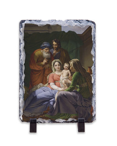 Holy Family with Grandparents Joachim and Anne Vertical Slate Tile