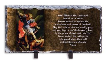 St. Michael Prayer Horizontal Slate Tile