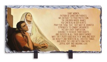 St. Monica Prayer Horizontal Slate Tile