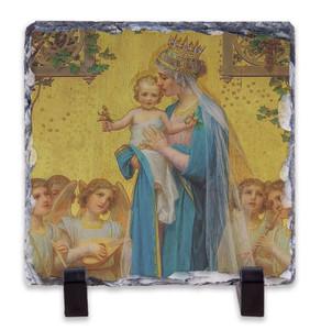 Madonna and Child by Enric M. Vidal Square Slate Tile