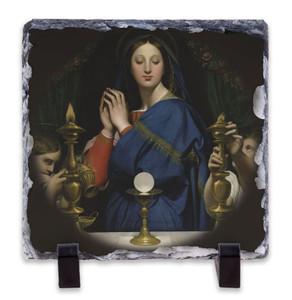 Madonna of the Host Square Slate Tile