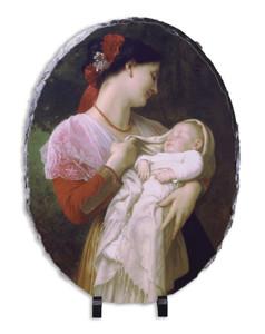 Maternal Admiration Oval Slate Tile