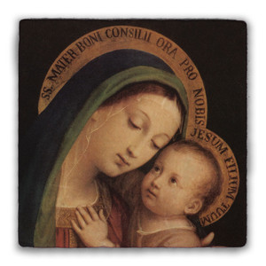 Our Lady of Good Counsel Square Tumbled Stone Tile