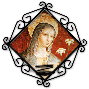 St. Clare of Assisi Votive Candle Holder
