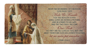 Wedding of Joseph and Mary with Scripture Hi-Gloss Mini Tile